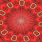 Shades of Red Bold Kaleidoscope Pattern  by taiche