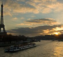 Seine and Tour Eiffel from Pont Alma by PaulTyrer