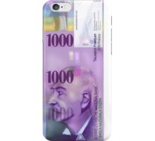1000 Swiss Francs note bill- Front side iPhone Case/Skin