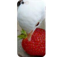 It's A Strawberry Affair I'm Having - White Dove - NZ iPhone Case/Skin
