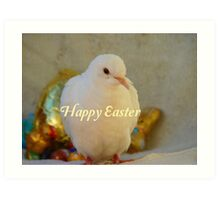 Easter Peace... - Happy Easter Dove - NZ Art Print