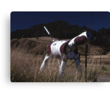 Cow Letter Box, Lindesay Highway, Queensland, Australia Canvas Print