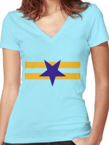 Browncoat (Independents) Flag - Inverted Star Women's Fitted V-Neck T-Shirt