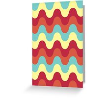Melting colors Pattern Greeting Card