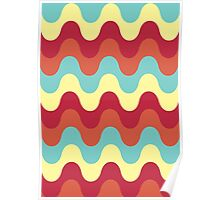 Melting colors Pattern Poster