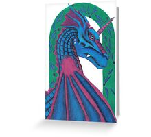 Dragon Under the archway Greeting Card