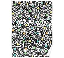 Pastel Puzzle Bubble Pattern (dark gray) Poster