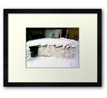 IGLOO SNOW HOUSE  Framed Print
