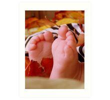 Little Autumn Feet - NZ Art Print