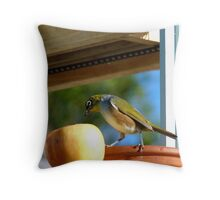 I Wasn't Aware That Apples Came With Worms.. Bonus!! - Silvier-Eye - NZ Throw Pillow