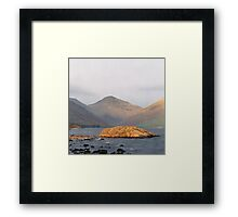 Wast Water, Late Sun Framed Print