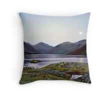 Moon rising over Wast Water Throw Pillow