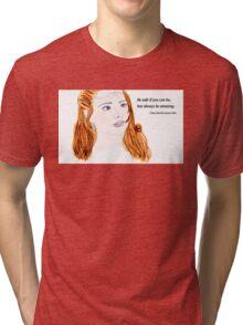 Clara Oswald and Robin Hood Tri-blend T-Shirt