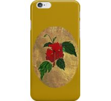 hibiscus - card iPhone Case/Skin