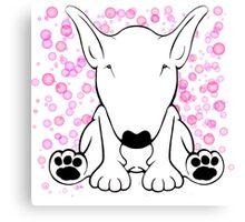 English Bull Terrier Forward Sit Canvas Print