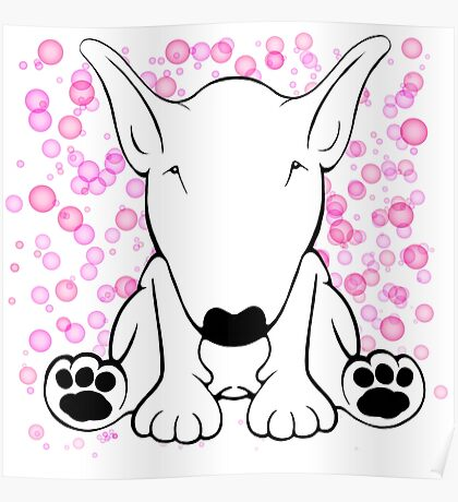 English Bull Terrier Forward Sit Poster