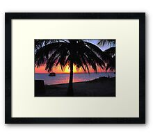 SILHOUETTE SUNSET - Mozambique Framed Print