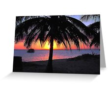 SILHOUETTE SUNSET - Mozambique Greeting Card
