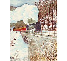 Narrow Gauge Railway in the Harz Mountains Photographic Print