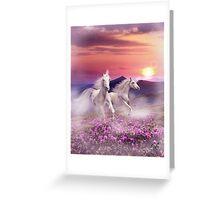 Duet of unicorns Greeting Card