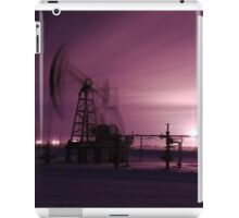 Pump jack and oilwell. iPad Case/Skin
