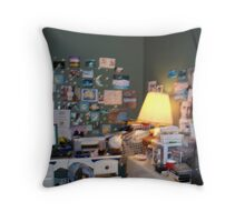 My Office - My World Throw Pillow