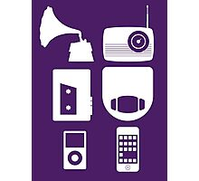 The History Of Portable Music Devices in Six Easy Steps Photographic Print
