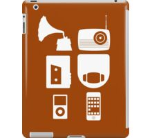 The History Of Portable Music Devices in Six Easy Steps iPad Case/Skin