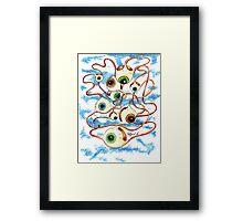 Flying Eyes Framed Print