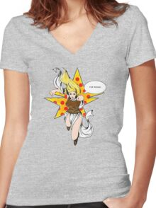 Super Eowyn! Women's Fitted V-Neck T-Shirt
