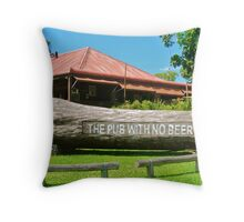 The Pub With No Beer Throw Pillow
