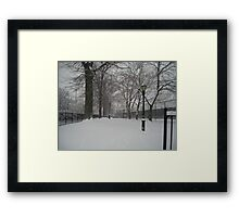 Brooklyn Snowstorm Framed Print