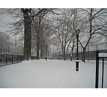 Brooklyn Snowstorm Photographic Print