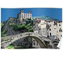 Dolceacqua village and castle Poster