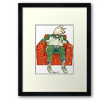 Pig Inquirer Framed Print