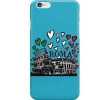 Roma flying hearts iPhone Case/Skin