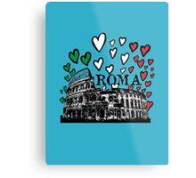 Roma flying hearts Metal Print