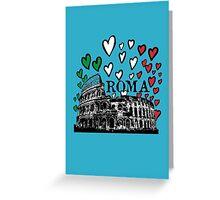 Roma flying hearts Greeting Card