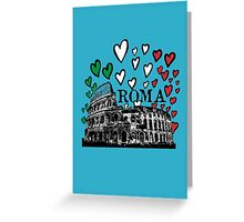 Roma flying hearts Greeting Card