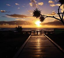Boardwalk to the sun by Chris Hinde