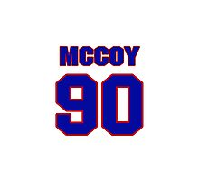 National football player Larry McCoy jersey 90 Photographic Print