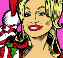 Merry Christmas Dolly Knockers! Sticker
