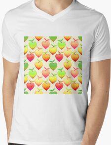 Peach Love Mens V-Neck T-Shirt