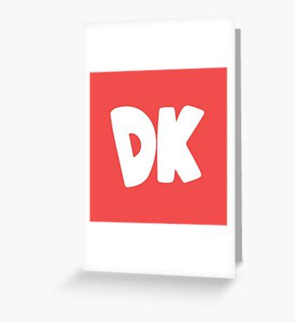 Donkey Kong Symbol - Super Smash Bros. (white) Greeting Card