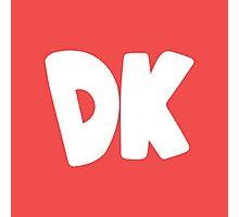 Donkey Kong Symbol - Super Smash Bros. (white) Photographic Print