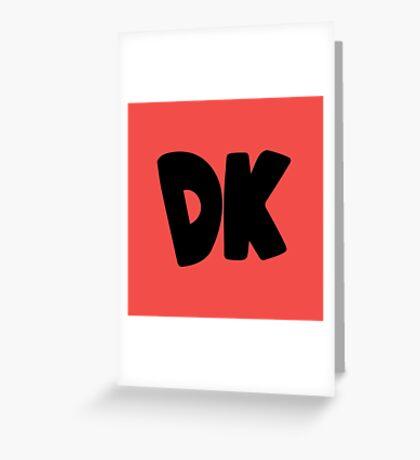 Donkey Kong Symbol - Super Smash Bros. (black) Greeting Card