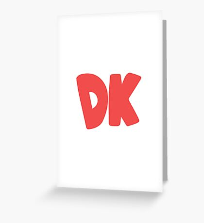 Donkey Kong Symbol - Super Smash Bros. (color) Greeting Card