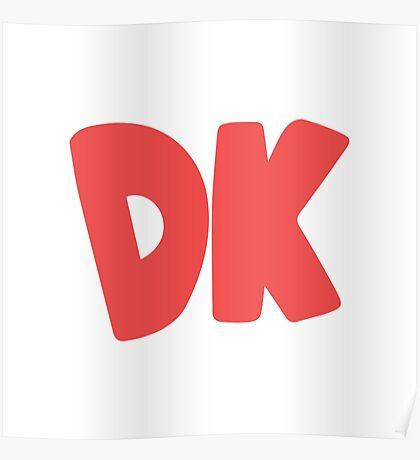 Donkey Kong Symbol - Super Smash Bros. (color) Poster