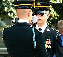 Arlington Cemetery Guard by Matt Sillence
