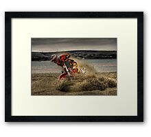 Weymouth Beach Race 2006 Framed Print